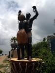 Monument dédié aux esclaves, offert par la guadeloupe au Sénégal